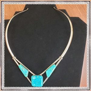 Jay King Crow's Peak Turquoise Collar Necklace